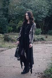 texture mix fashion blogger stephanie of wearing muubaa metallic pewter silver leather drape jacket h m hoodie
