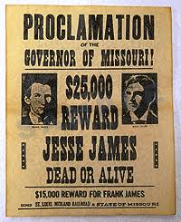 Historical Documents Company Western Wanted And Reward Posters