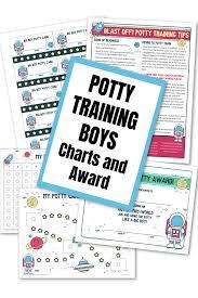 Blast Off Potty Training Charts And Award For Boys