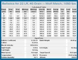 24 Actual Ruger 10 22 Ballistics Chart