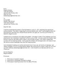 Sample Cover Letter For Science Teaching Position Lezincdc Com