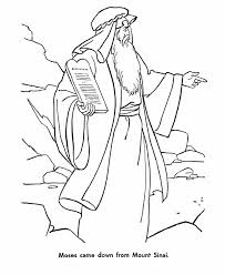 Moses Coloring Pages And Tablets Coloringstar