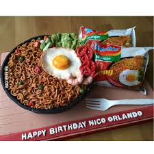 Cake Version Of The Worlds Best Instant Noodle Indonesias Indomie