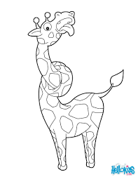 Giraffe African Animals Coloring Pages