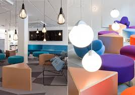 colorful office space interior design. Amazing Modern Colorful Skype\u0027s Stockholm Office : Breathtaking Skype Multipurpose Space Interior Decoration With Design I