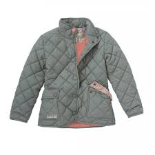Joules Girls Green Quilted Jacket - Elfin & Joules Girls Green Quilted Jacket Adamdwight.com
