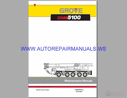 Grove Terrain Crane Gmk 5100 Maintenance Manual Auto