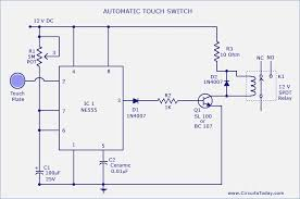 universal touch switch wiring diagram circuits touch switchcircuit using ne 555 ic l next