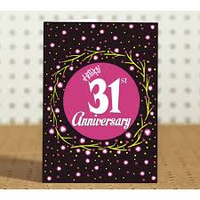 31st marriage anniversary gift printed coffee mug with greeting card