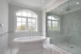 white master bathrooms. White Tile Master Bathroom Design Ideas With Shower Sitting Bench Bathrooms E