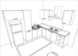 simple kitchen drawing. Kitchen Design Sketch Easy Drawing Rataki Info Simple H