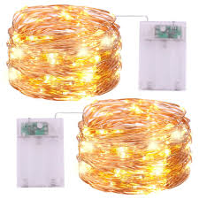 Mini String Lights Battery Operated Battery Operated String Lights Icreating 2pack 16 4ft Warm White Mini Battery Powered Led String Lights Fairy Lights Copper Wire Lights Twinkle