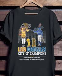 Shop at our store and also enjoy the best in daily editorial content. Los Angeles Lakers And Dodgers City Of Champions 2020 Nba Champions 2020 World Series Champions Shirt Hoodie Sweater And Ladies Shirt