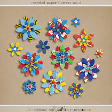 Paper Flower Designs Recycled Paper Flowers No 2