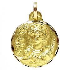 colgante oro 18k medalla santa bárbara 94 loading zoom