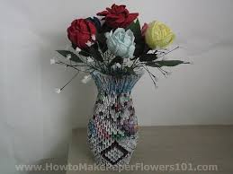 Flower Vase With Paper Flower Vase Made By Paper Zlatan Fontanacountryinn Com