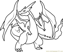Small Picture Mega Charizard Y Pokemon Coloring Page Free Pokmon Coloring