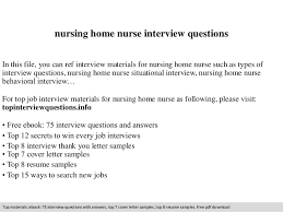 Nursing Home Nurse Interview Questions Image Gallery Answers To