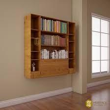 teak wood folding wall mount shelf