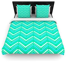 lynn tice symetrical teal turquoise cotton duvet cover twin 68 x88
