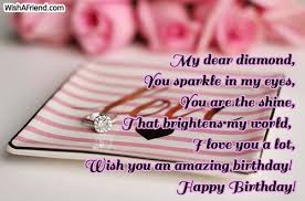 Love Birthday Quotes Fascinating My Dear Diamond You Sparkle In My Love Birthday Quote