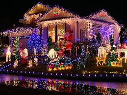 christmas lighting ideas outdoor. Outdoor Christmas Lighting Ideas. _colorful-neon-christmas-light -front-yard_s4x3 Ideas