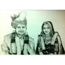 Pencil Sketches Of Couples Wedding Couple Pencil Sketch