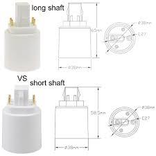 4 Pin Light Bulb Converter G24 To E27 E26 4 Pin Led Light Sockets Adapter Light Bulb