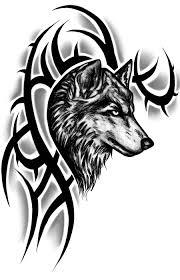 эскизы татуировок на плечо волки