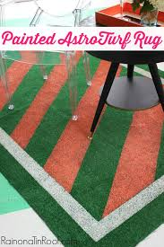 diy painted astroturf rug tutorial via rainonatinroof com diy rug homedecor