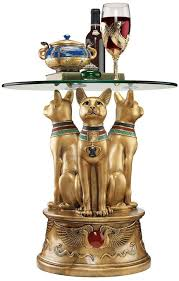 point furniture egypt x: xoticbrands ancient egyptian basset cat sculpture statue decorative occassional side table egyptian classic furniture