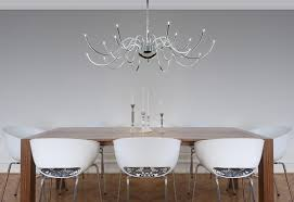 visual weight of the chandelier for a dining room