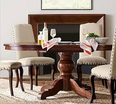 Image Extending Pedestal Pottery Barn Sumner Extending Pedestal Dining Table Pottery Barn