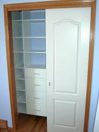 how to organize a small closet with sliding doors sliding door closet organization how to organize
