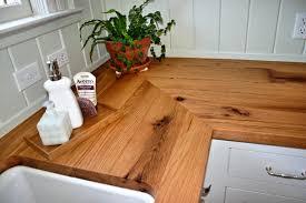 reclaimed white oak face grain custom wood countertop