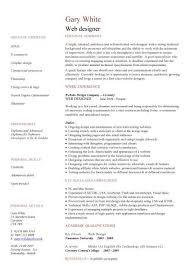 Web Designer Resume Template 2 Entry Level Developer Cv