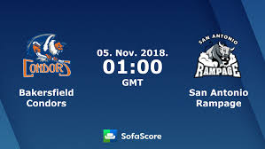 bakersfield condors san antonio rage live score video stream and h2h results sofascore