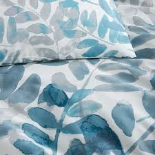 400 thread count organic watercolor fern sateen duvet cover shams west elm
