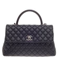 Buy Chanel Coco Top Handle Bag Quilted Caviar Medium Black 378802 ... & Buy Chanel Coco Top Handle Bag Quilted Caviar Medium Black 378802 – Trendlee Adamdwight.com