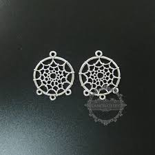 10pcs 28 33mm antiqued silver indian dream catcher net spider meb diy pendant charm supplies findings 1820277