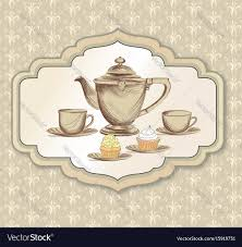 vintage tea cups vector. Simple Tea Throughout Vintage Tea Cups Vector O