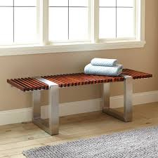 gaffney mahogany and stainless steel bench  indoor furniture
