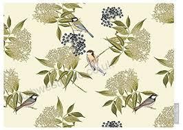 designer waterproof garden outdoor tablecloth bird on elderflower cream lakeland collection