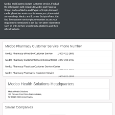 Express Scripts Customer Service Mix Medco Pharmacy Customer Service Number