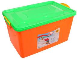 <b>Контейнер для хранения Росспласт</b> 50L Orange Light Green ...