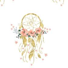 What Is Dream Catcher Sweet Dreams Baby Girl Dream Catcher Gold 100 fabric shopcabin 90