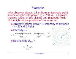 Average Light Intensity Example P