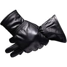 senarai harga black mens leather gloves 2018 winter warm c fleece genuine leather driving gloves men sheepskin touch screen gloves eldiven terbaru di