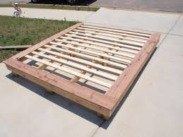platform bed frame plans size