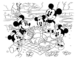 Mickey Mouse Birthday Coloring Pages Family 1265 Mickey Mouse
